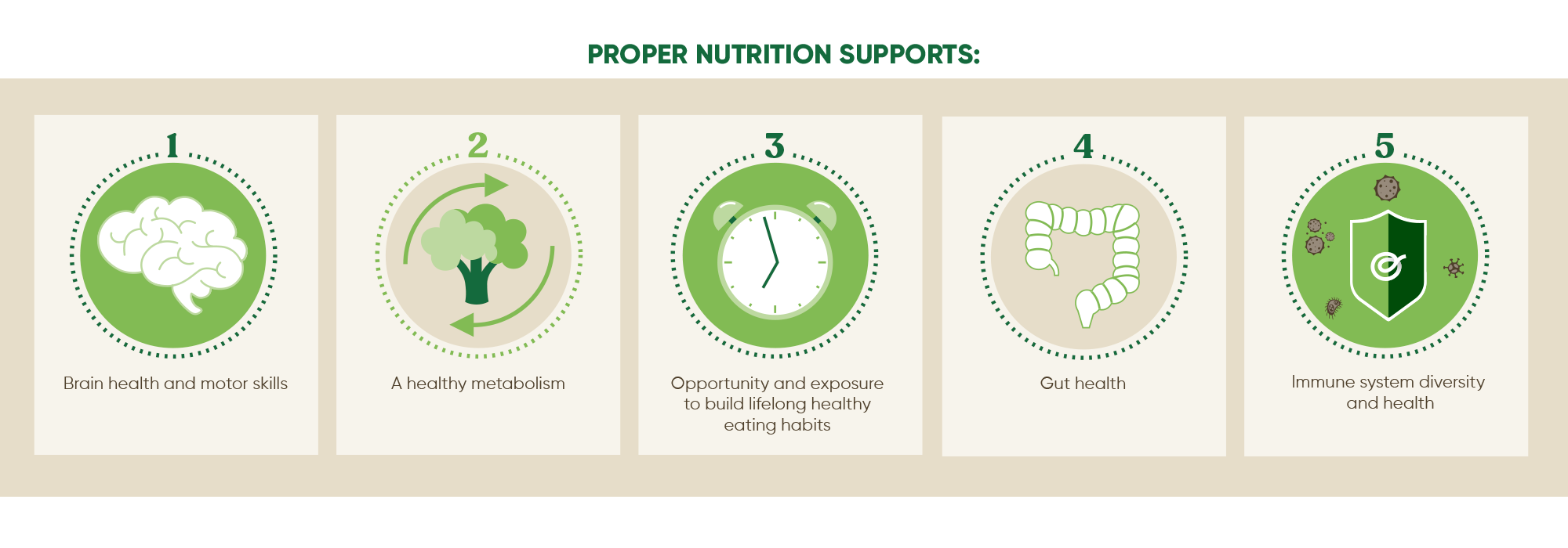 Proper nutrition supports baby's health