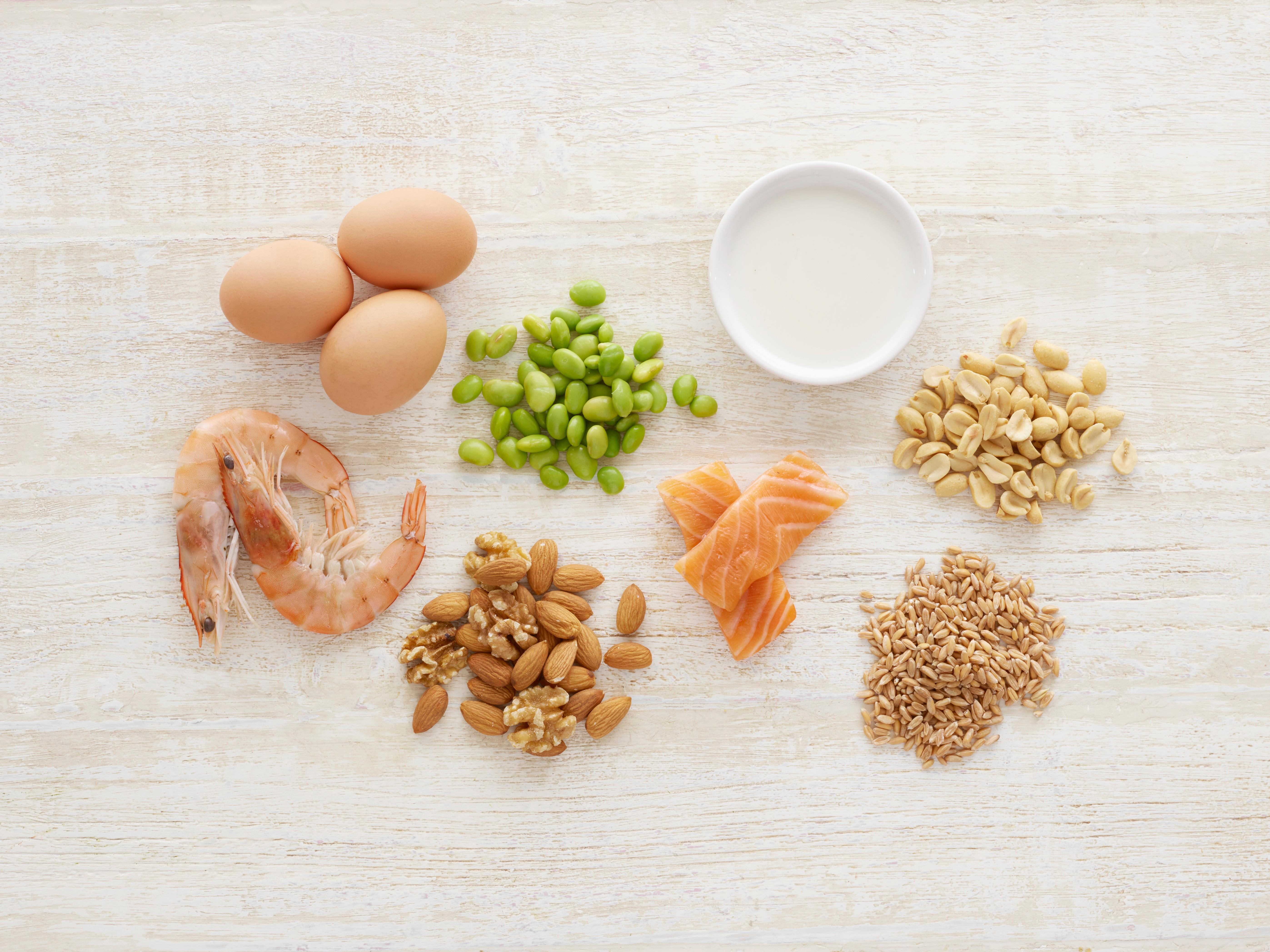 Potentially allergenic foods